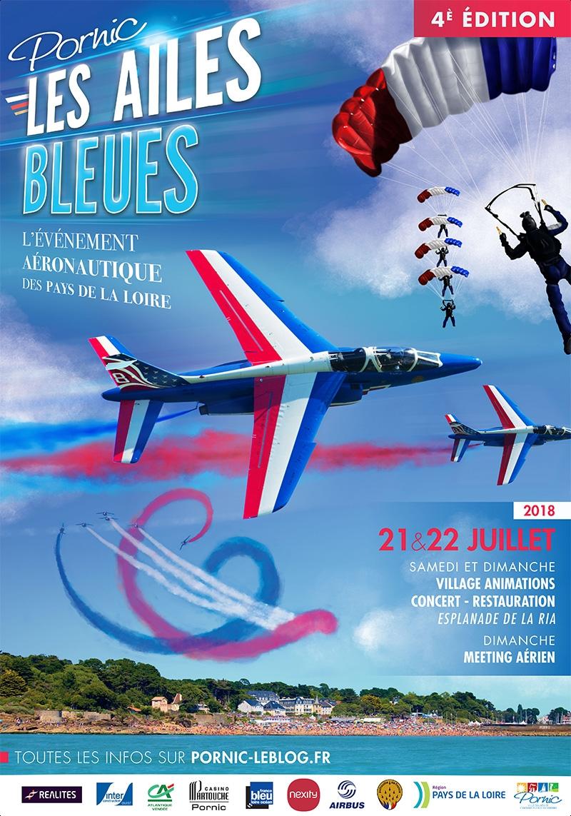 Meeting Aerien de Pornic 2018 , PATROUILLE DE FRANCE ET LES AILES BLEUES 2018 ,meeting aerien 2018 , Spectacle aerien 2018